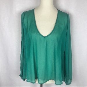 Lovers + Friends Daydream Open Arm Blouse - Large